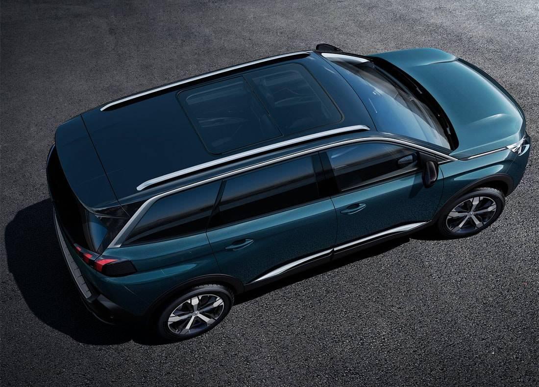 картинки Peugeot 5008 2 поколения вид сверху