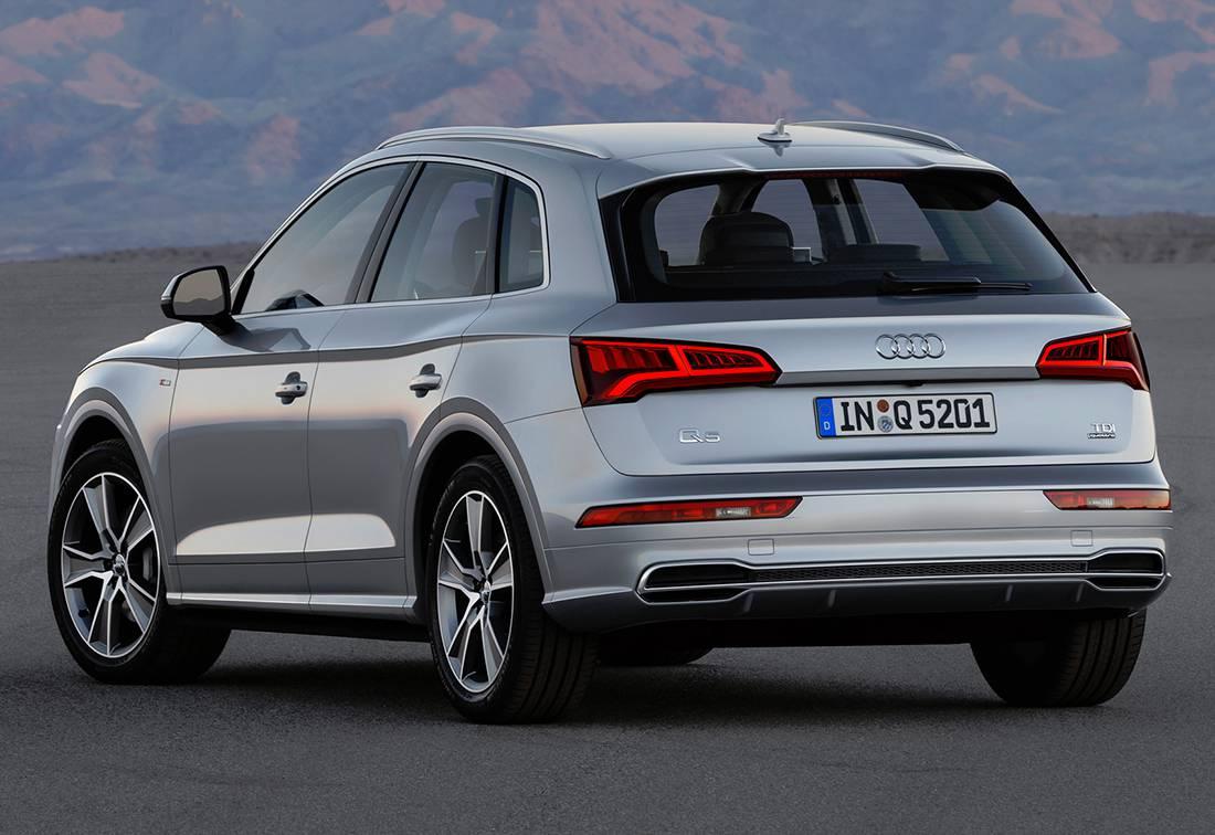 картинки Audi Q5 2017-2018 года вид сзади