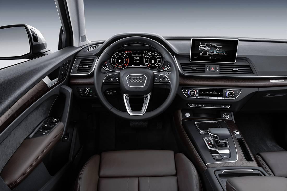 фото интерьера Audi Q5 2017-2018 года