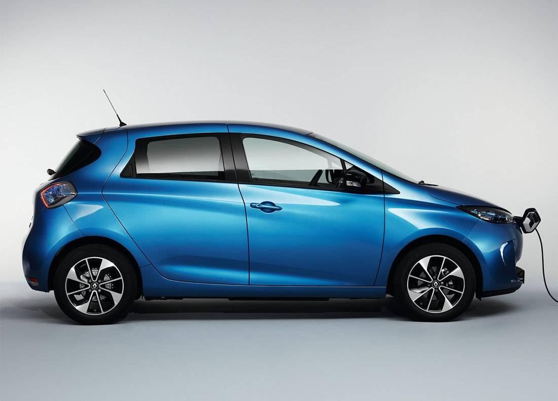 картинки Renault Zoe 2017-2018 года вид сбоку