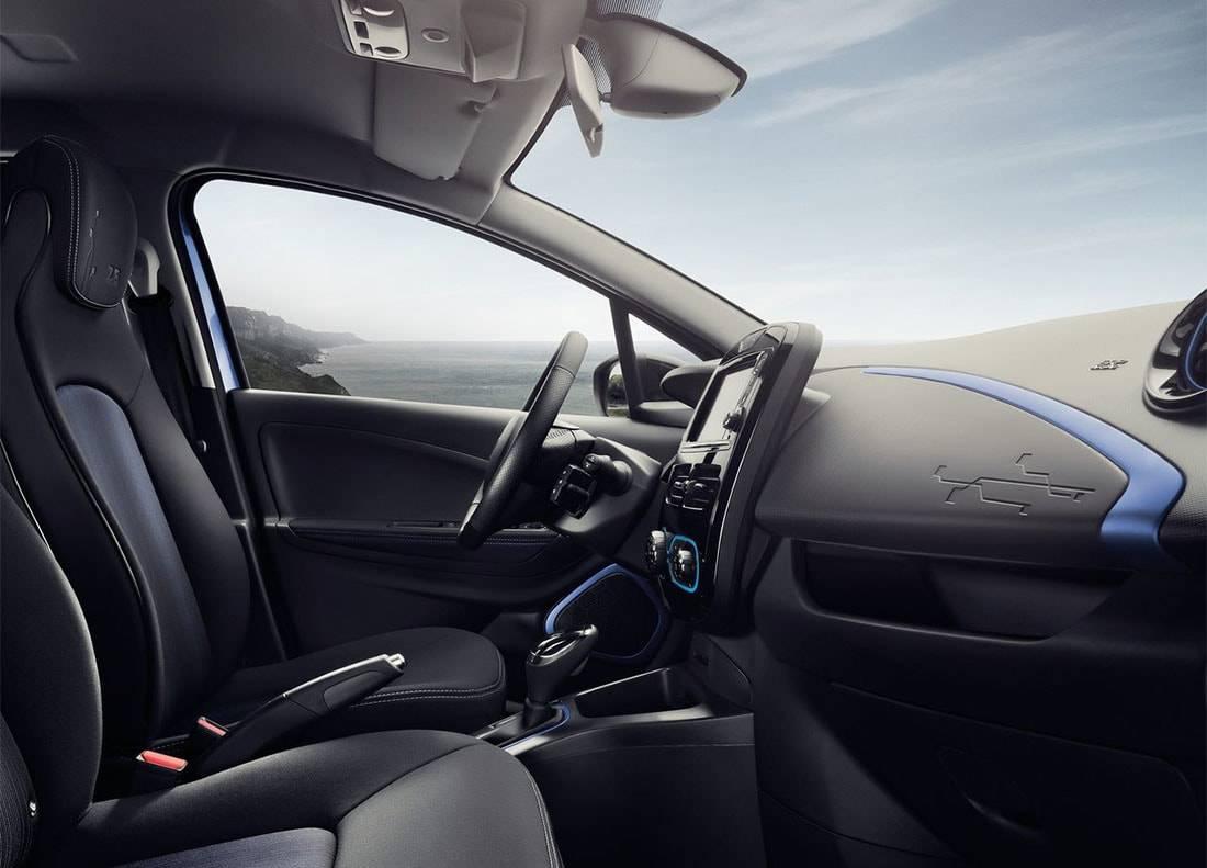 картинки интерьера Renault Zoe 2017-2018 года