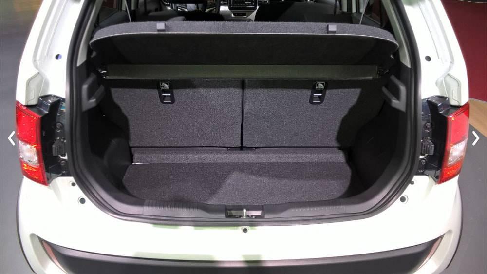 фото багажного отделения Suzuki Ignis 2017-2018 года