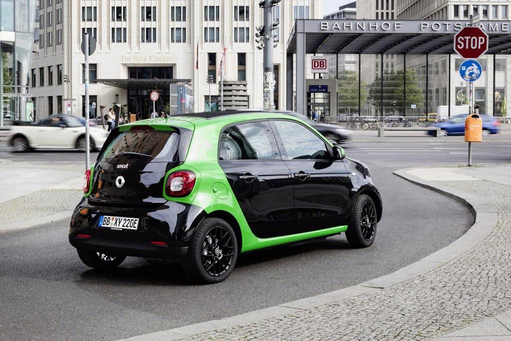 картинки электрический Smart ForFour 2 EV 2017-2018 года
