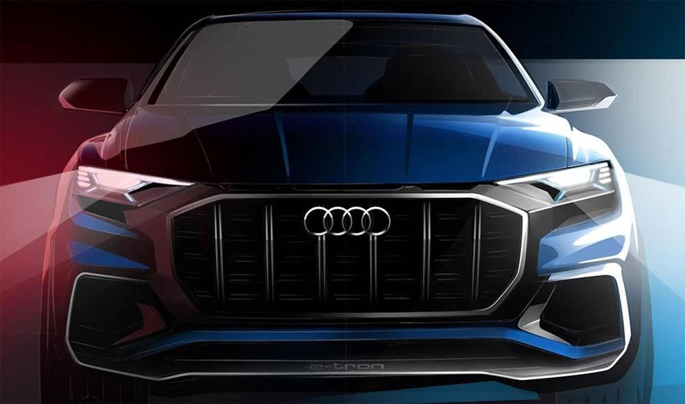 фото Audi Q8 E-tron Concept 2017 года вид спереди