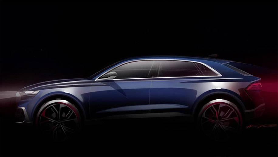 фото Audi Q8 E-tron Concept 2017 года вид сбоку