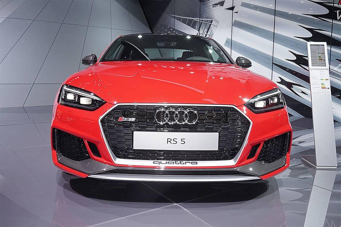 фото Audi RS5 Coupe 2017-2018 года вид спереди