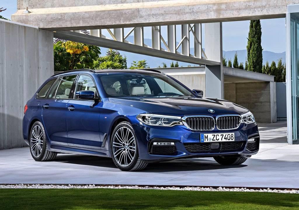 фото BMW 5-Series Touring 2017-2018 вид спереди