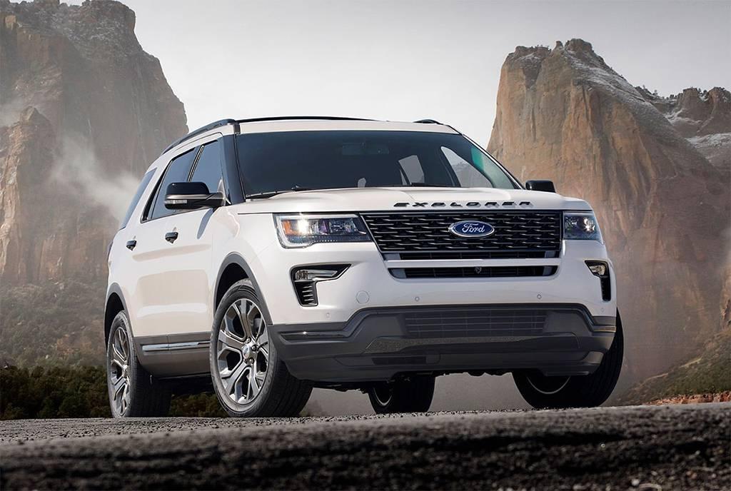фото Ford Explorer 2018-201 года вид спереди