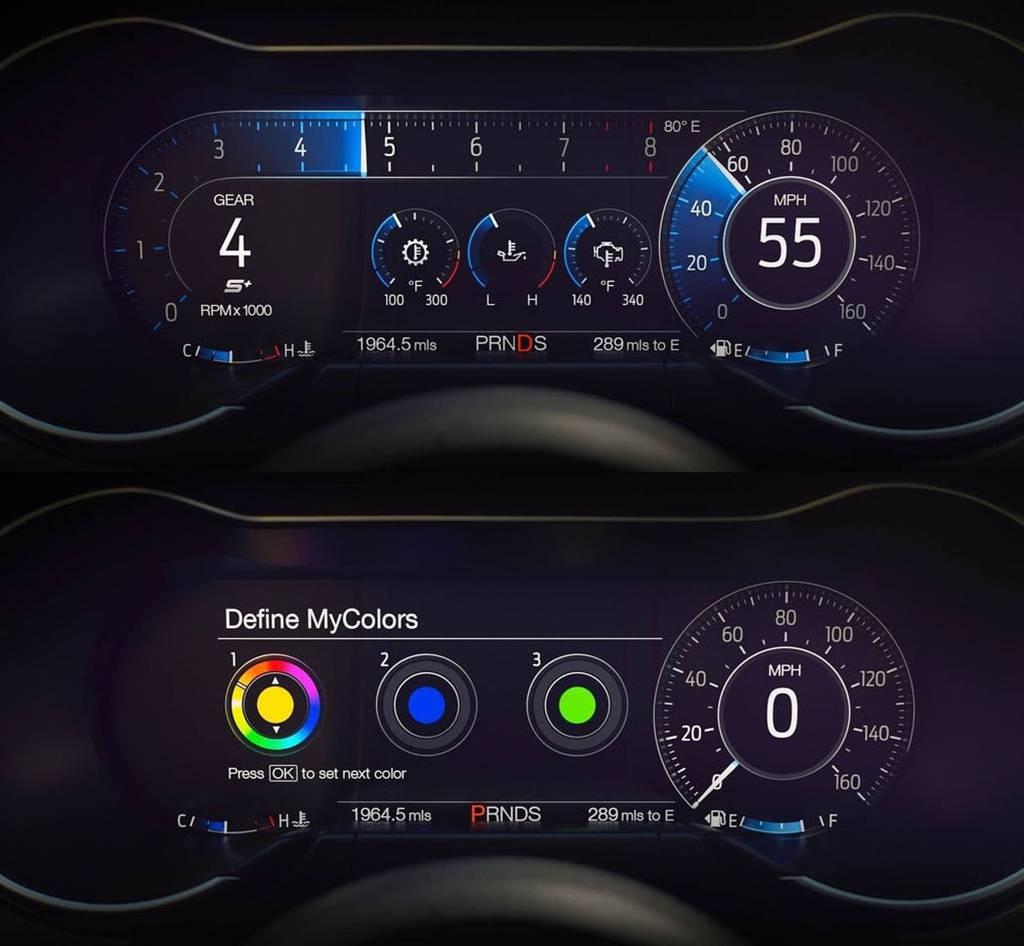 фото панели приборов Ford Mustang 2017-2018