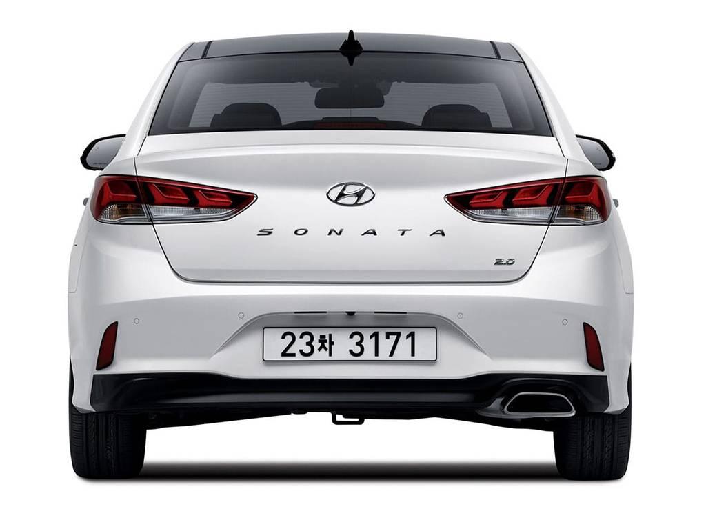 фото Hyundai Sonata 2017-2018 года вид сзади