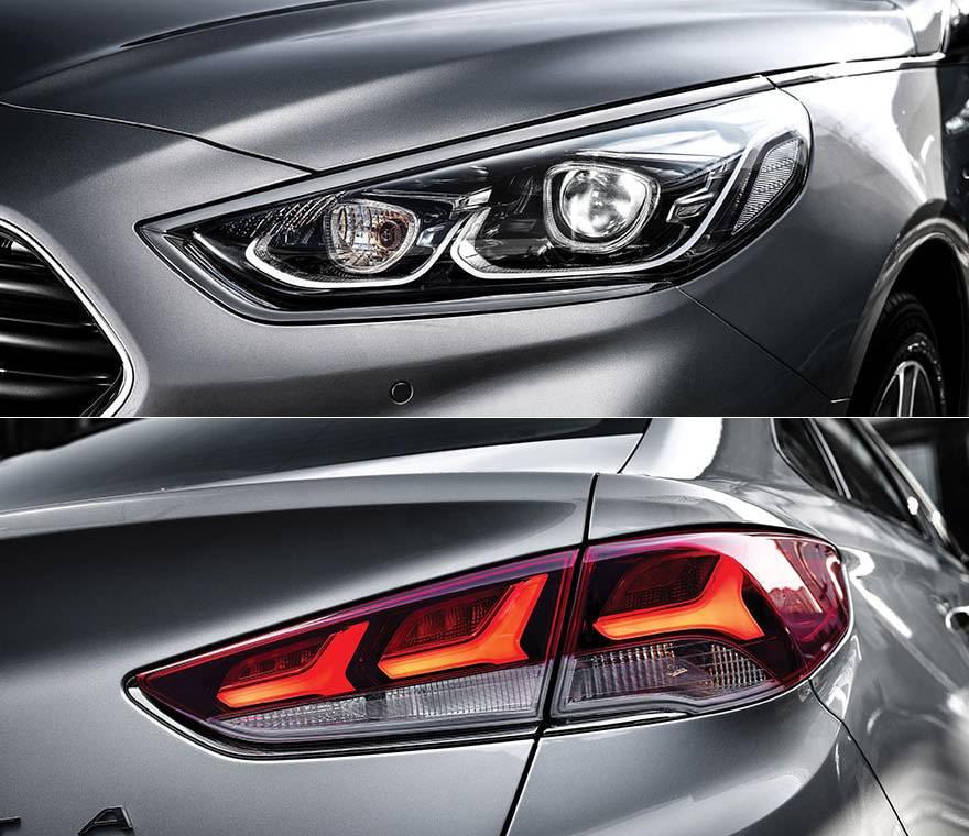 фото новой светотехники Hyundai Sonata 2017-2018 года