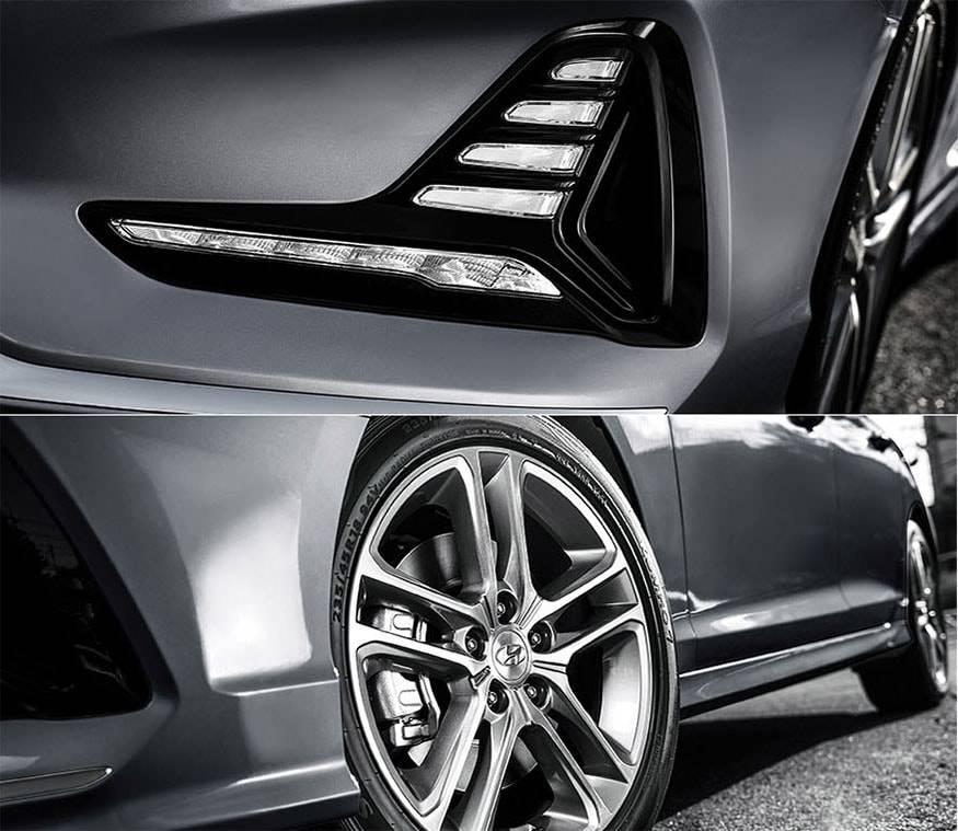 фото детали экстерьера Hyundai Sonata 2017-2018 года