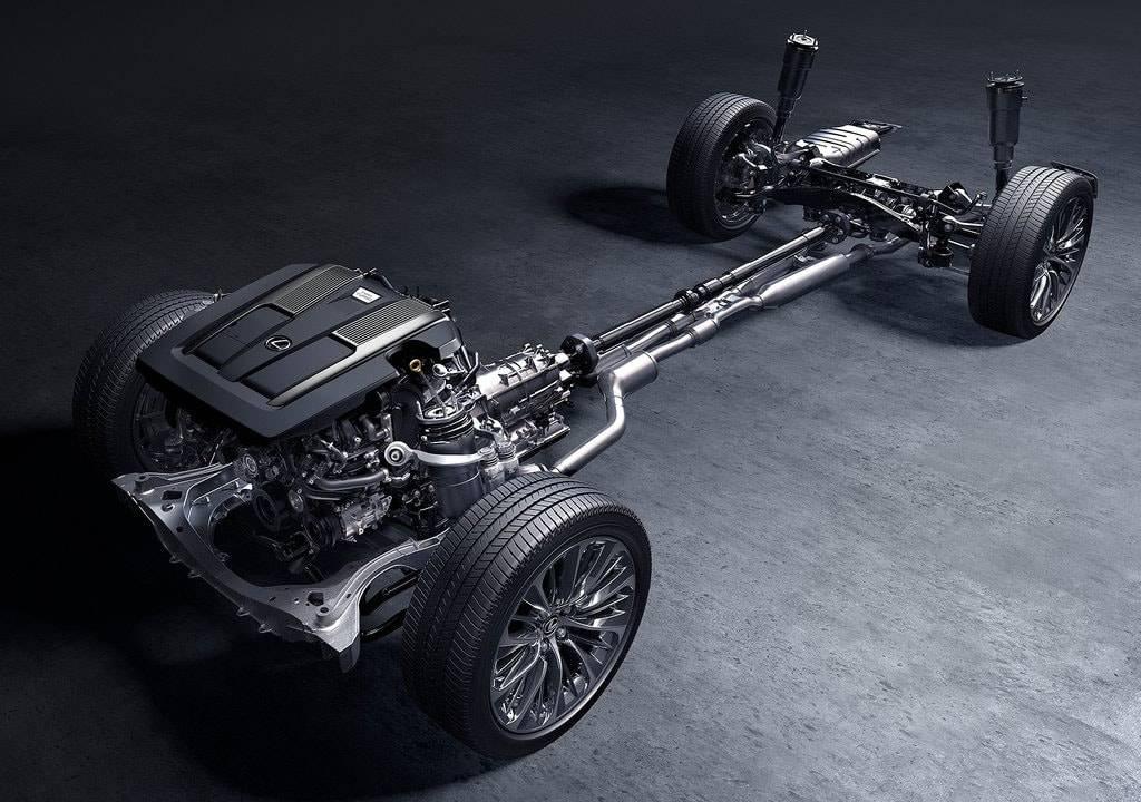 фото шасси Lexus LS 500 2017-2018