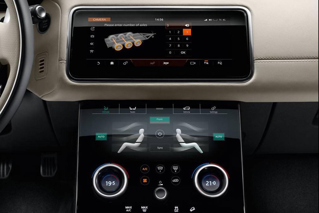 картинки интерьера Range Rover Velar 2017-2018 года