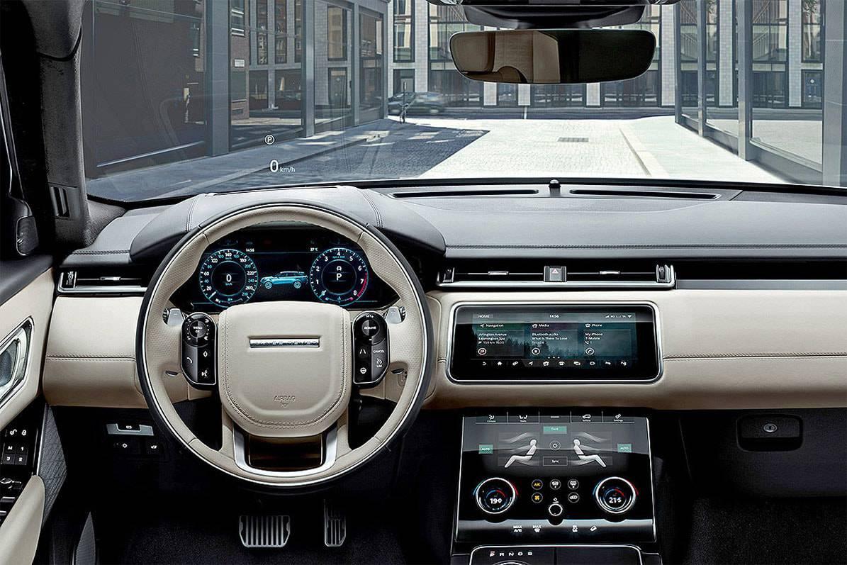 картинки салона Range Rover Velar 2017-2018 года