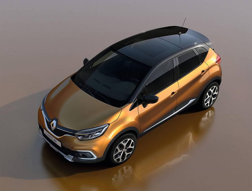 фото Renault Captur 2017 2018 года вид сверху