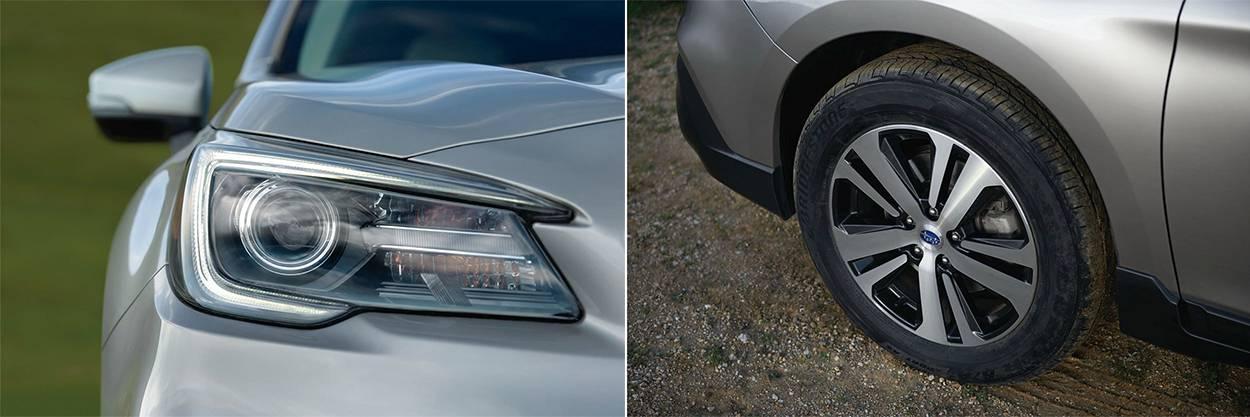 головная оптика и колесные диски Subaru Outback 2018-2019 года