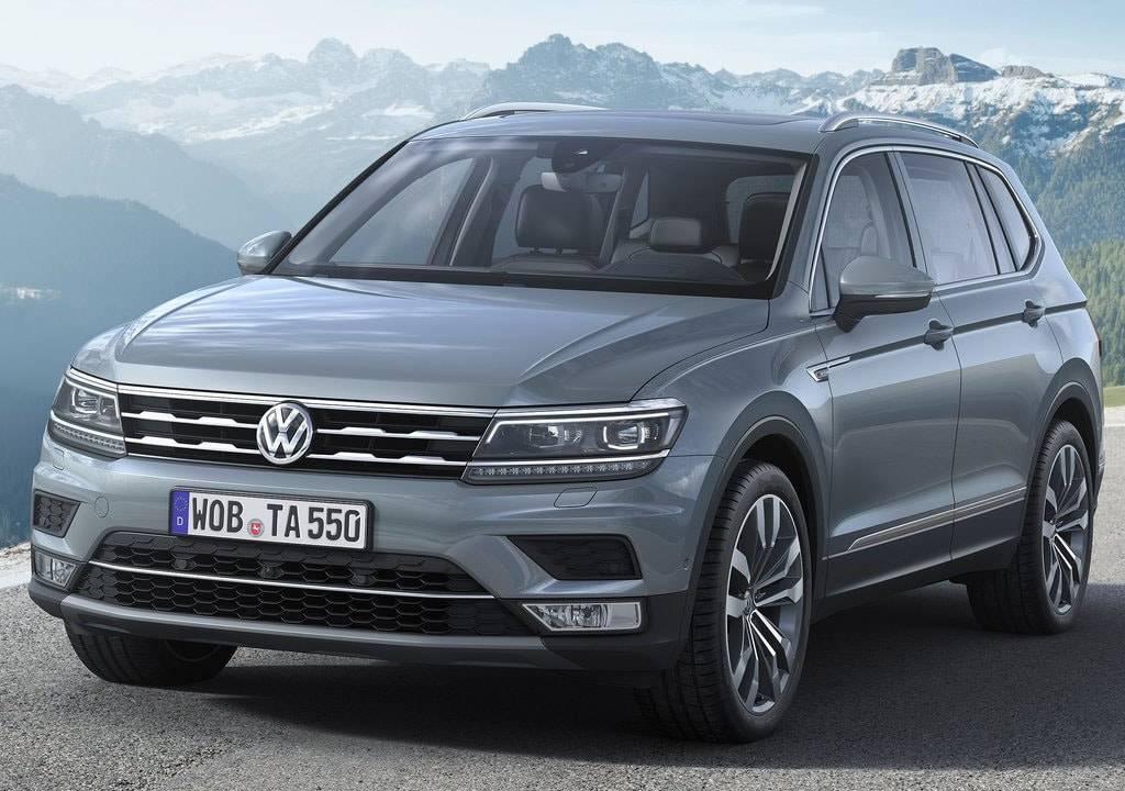 фото Volkswagen Tiguan Allspace 2017-2018 года вид спереди