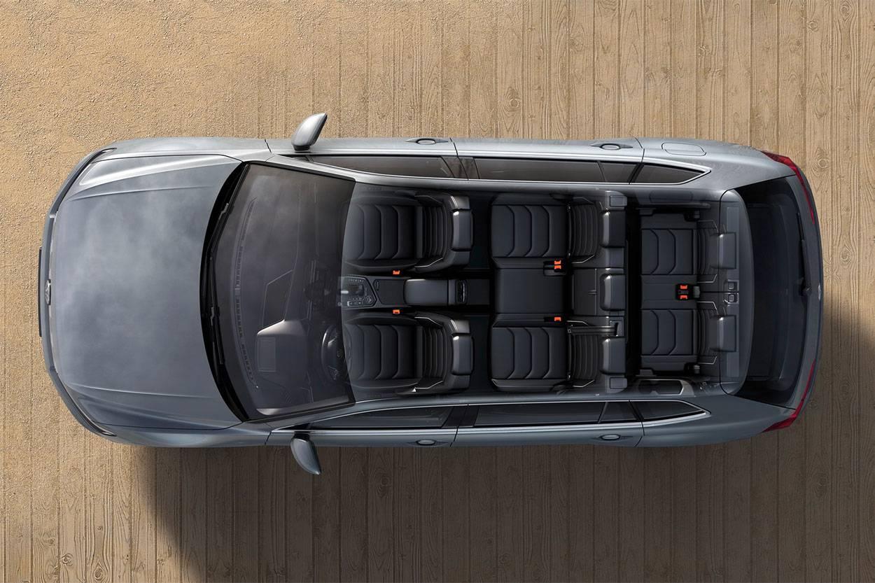 фото Volkswagen Tiguan Allspace 2017-2018 года виз сверху