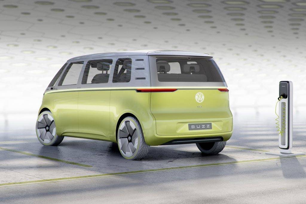 фото Volkswagen I.D. Buzz 2017 вид сзади