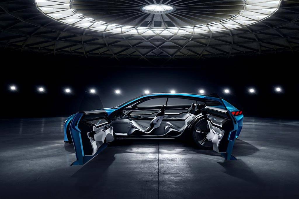 фото Peugeot Instinct Concept 2017 вид сбоку