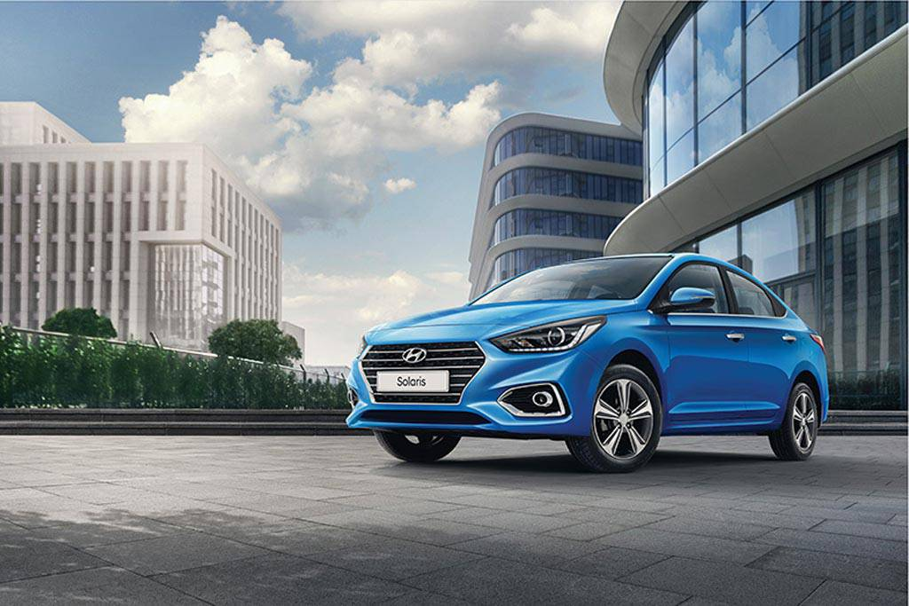 фото Hyundai Solaris 2 2017-2018 года вид спереди