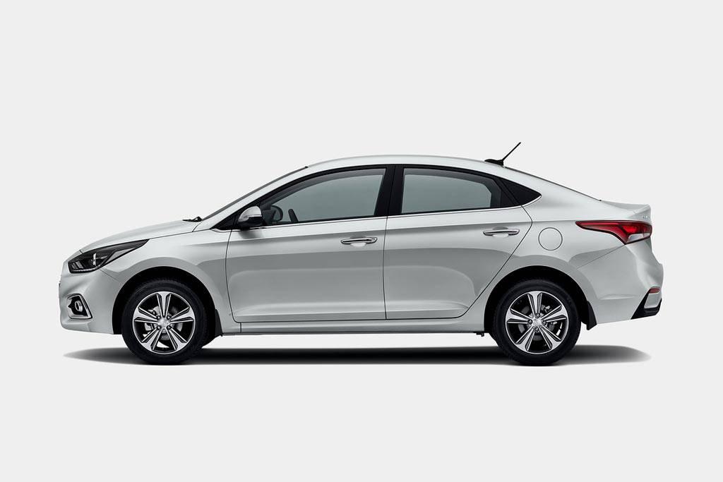 фото Hyundai Solaris 2 2017-2018 года вид сбоку
