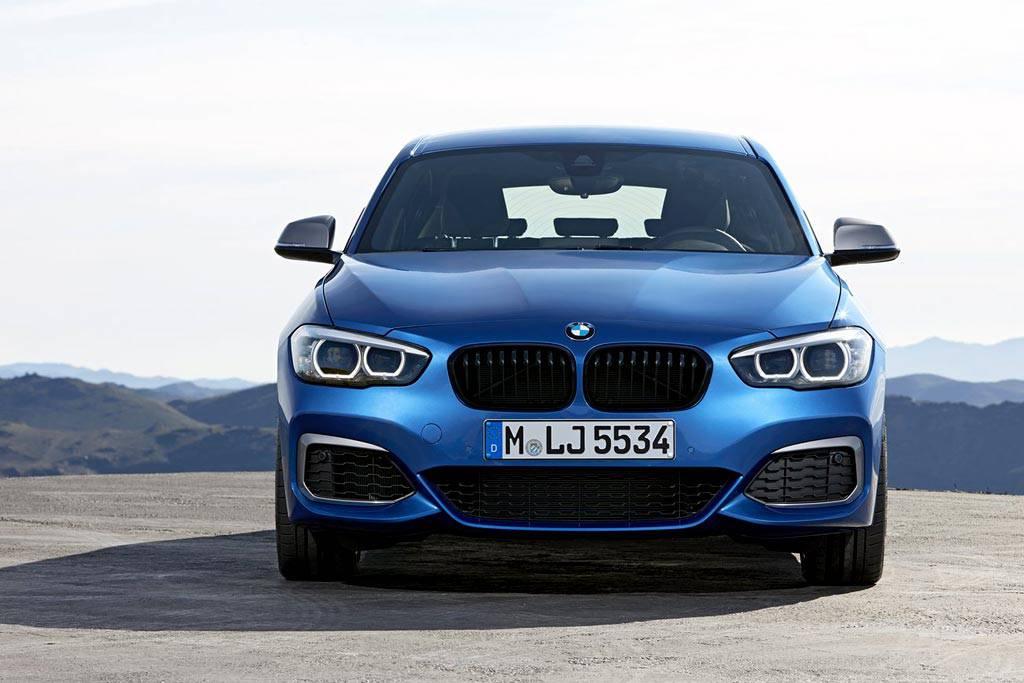 обновленная пятидверка BMW 1-Series 2017-2018 года