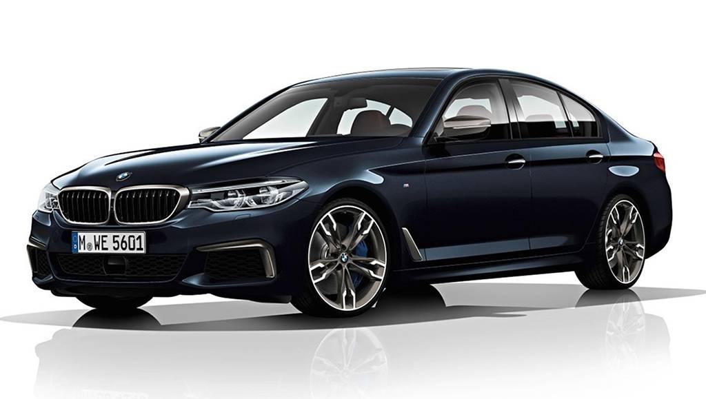 седан BMW M550d 2017-2018 года