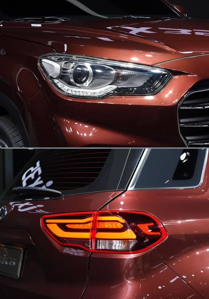 Hyundai ix35 2017-2018 года фото фар головного света и габаритных фонарей