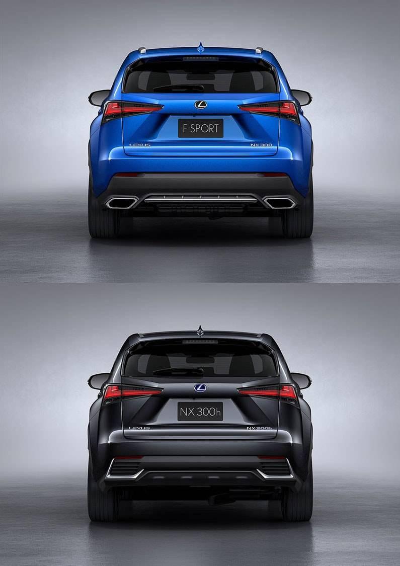 фото Lexus NX 2017-2018 года вид сзади
