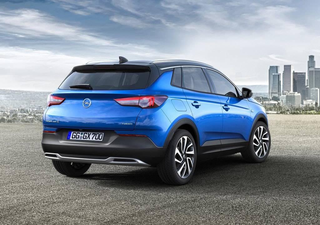 фото Opel Grandland X 2017-2018 года вид сзади