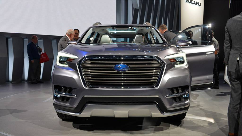 фото Subaru Ascent SUV Concept 2017 вид спереди