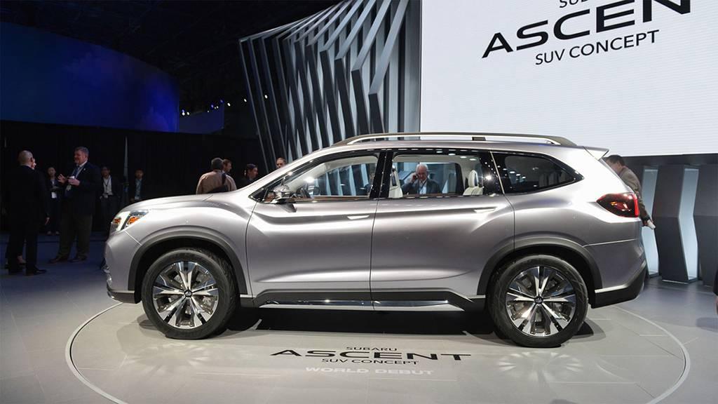 фото Subaru Ascent SUV Concept 2017 вид сбоку