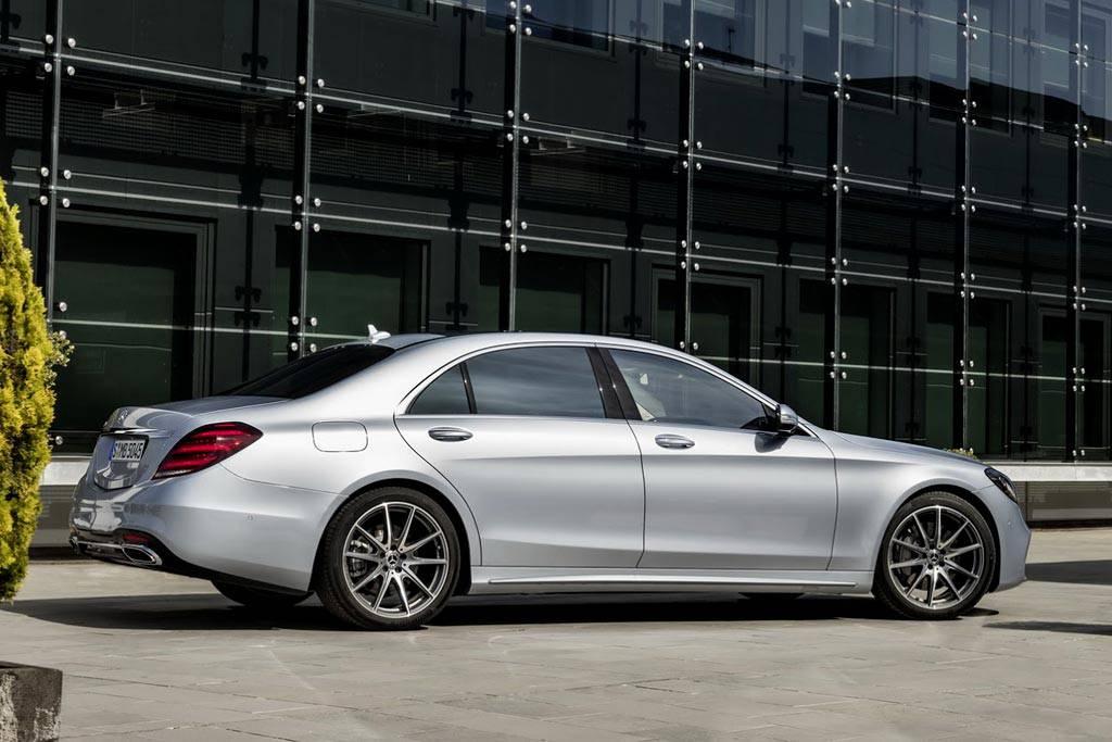 обновленный седан Mercedes S-Class 2017-2018 года